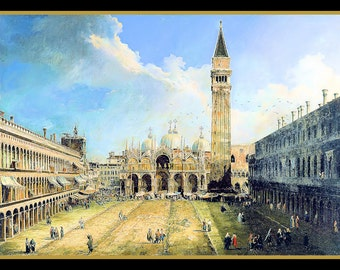 Piazzo San Marco in Venice Refrigerator Magnet
