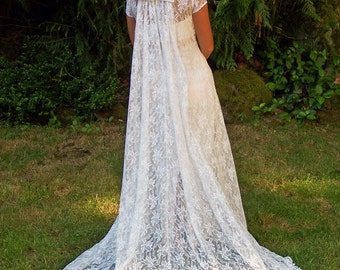 Ariella-Custom Vintage Couture Lace Wedding Dress-CRBoggs Original