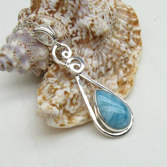 Larimar Necklace - Dominican Larimar - Larimar Pendant - Larimar Jewelry