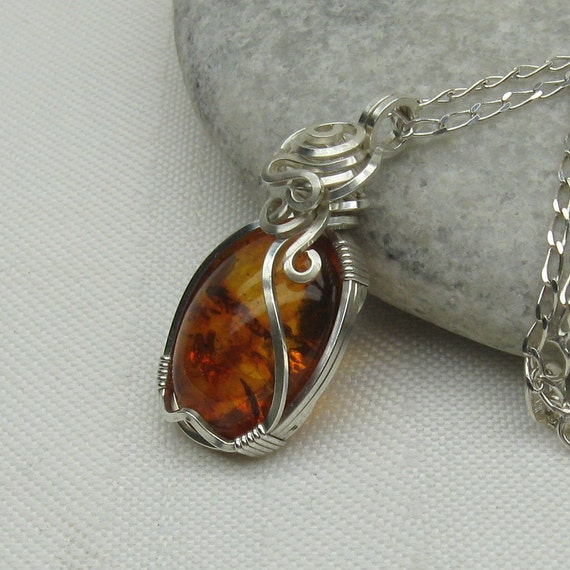Baltic Amber Necklace Genuine Amber Jewelry Pendant