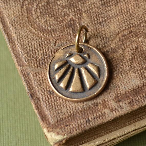 Handmade Bronze Shell Charm