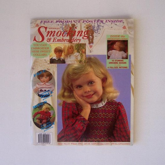 Australian Smocking and Embroidery Magazine Issue No. 21 Winter 1992
