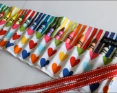 Hearts Crayon Holder/Organizer-Great Gift, Party Favor, or Stocking Stuffer-16 Crayola Crayons Included-Ready to Ship