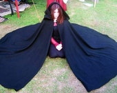 Custom Color Wool Three Quarter Circle Cloak SCA Renaissance LARP Pagan Halloween