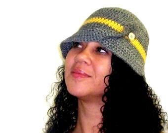 Gray Cloche Hat Winter Fashion Hat