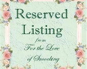 RESERVED LISTING for JENELLE