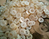"""Mother of Pearl vintage buttons--1/2 LB. antique milky white 1/2"""""""