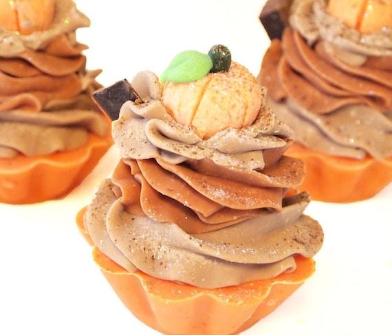 Pumpkin Spice Handmade Artisan Soap Cupcake