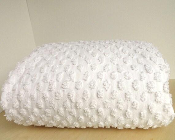 Chenille Duvet Comforter Cover White Cotton By