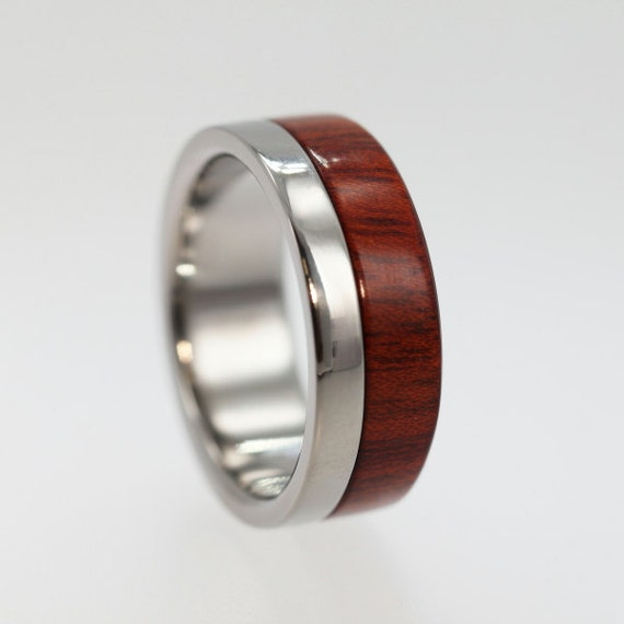 Custom Design Wood Ring - 1 Ring and 3 Inlays