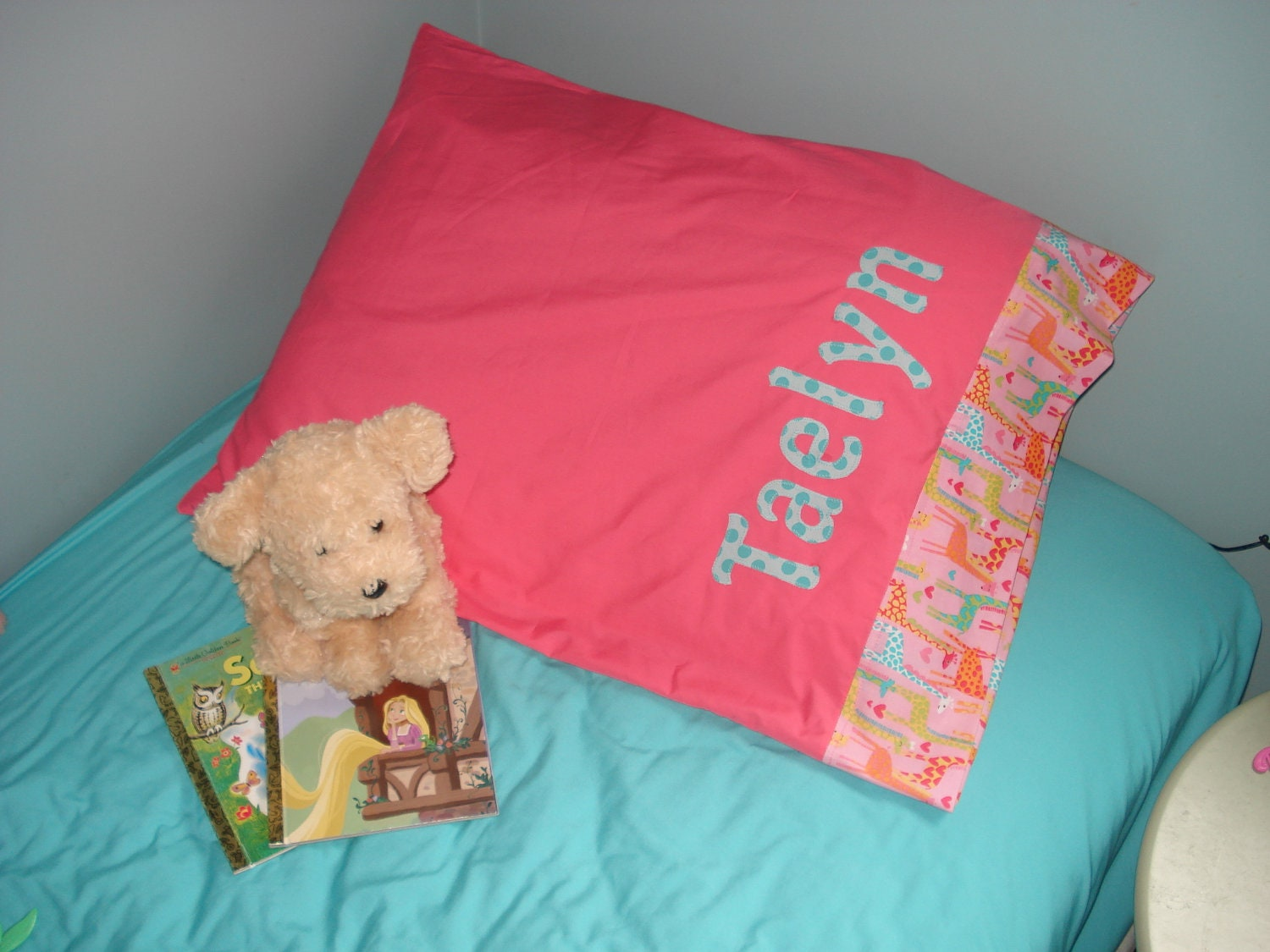 standard bed size pillow case personalized with full by tedandlucy. Black Bedroom Furniture Sets. Home Design Ideas