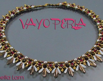 VAYO PERLA SuperDuo Beadwork Necklace Pdf tutorial instructions for personal use only