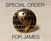 SPECIAL ORDER for JAMES - Wire Wrapped Ring, Vintage Button, Golden Globe Vintage Button Ring