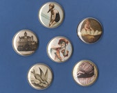Vintage Nautical 1 inch MAGNET set