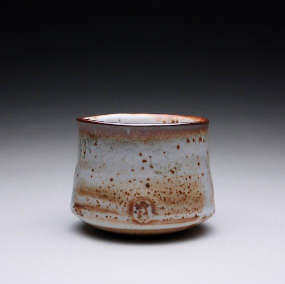 cup - teacup - tea bowl with layered shino glazes