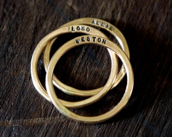 14k Gold Filled Personalized Rings (E0313)