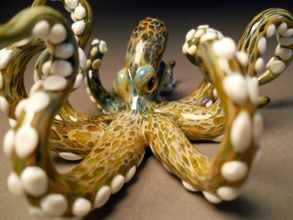 Art Glass Octopus Sculpture with tentacles