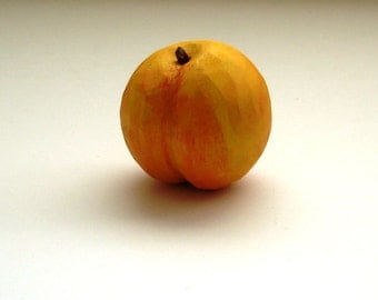 Handmade wooden Peach play food