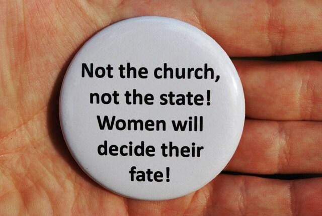 Feminist Pro Choice Slogan Pinback by TheRadicalFeminist ...