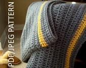 crochet blanket PATTERN - PDF - JPG - immediate download