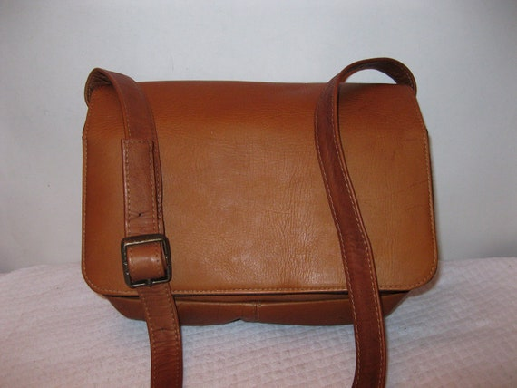 Genuine thick Colombian vegetable tanned  leather satchel purse messenger bag honey tan mint