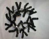Black 24in Work Wreath