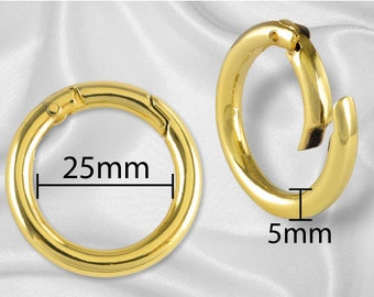 "100pcs - 1"" Gate Ring Gold - Free Shipping (GATE RING GRG-110)"