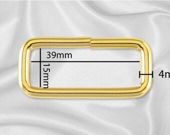 """50pcs - 1 1/2"""" Metal Square Ring - Gold (SQUARE RING SRG-126)"""