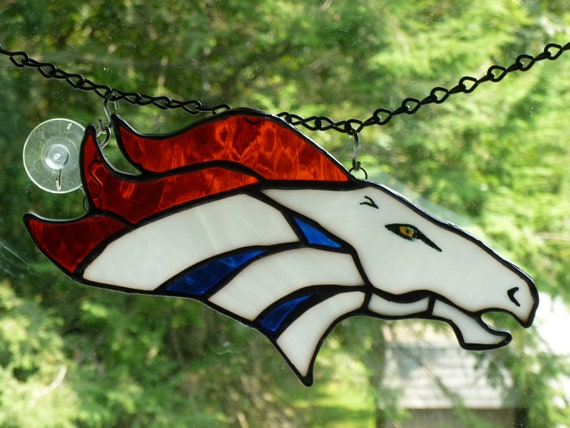 Denver Broncos inspired Stained Glass