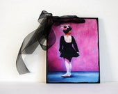 Dance- Pink and Black- Giclee Art Print Wall Art Ready to Hang-Girls Room Gift Guide Under 25
