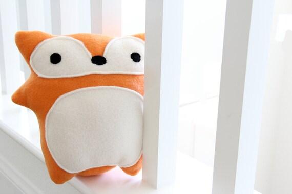 Red Fox Plush Toy - Evelyn - adorable cute soft fleece orange stuffed animal softie, christmas, baby shower
