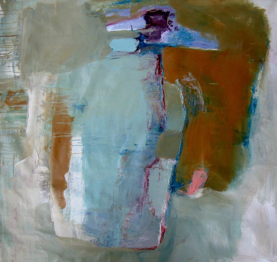 Totem, Original abstract mixed media painting on canvas