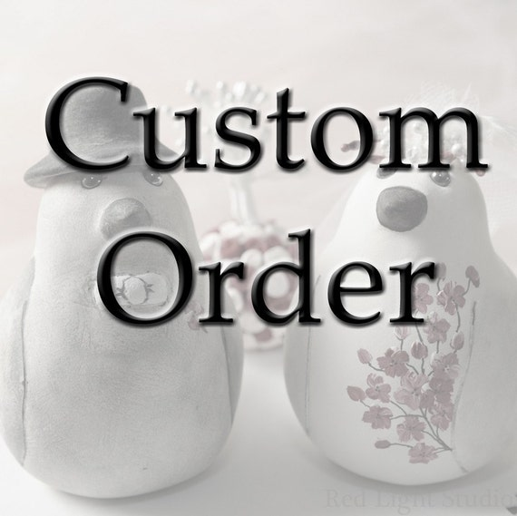 Custom Order Wedding Cake Topper -- For breeannahope