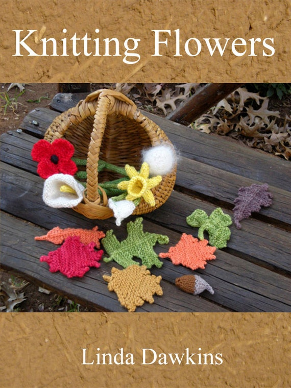 Knitting Flowers E-Book in PDF format by Linda Dawkins