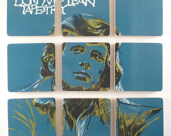 Don McLean recycled Tapestry music album cover coasters with warped record bowl
