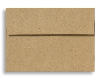 Grocery Bag Envelopes - Set of 25 A7 Size - Perfect for 5x7 Photos or Cards - Recycled Envelopes
