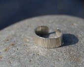 toe ring- hammered sterling silver