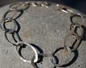 sterling  oval bracelet-reserved for Josée
