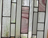 Pink and clear Stained Glass Panel