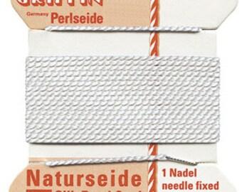 White Griffin Natural Silk Cord No 4 w Needle 2 Pkgs