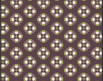 SALE Art Gallery Fabric - Modernology Collection - A la Mode in Chocolate - 1 Yard