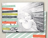 christmas photo card - banners.