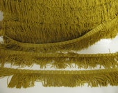 6 yards of Vintage Gold Drapery Fringe Trim for Upholstery, Pillows and crafts
