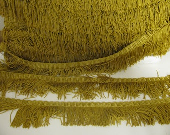 1 yd Vintage Gold Drapery Fringe Trim for Upholstery, Pillows and crafts