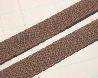 "Twill Tape Trim CHOCOLATE BROWN - 1/2"" Wide - 6 Yards"