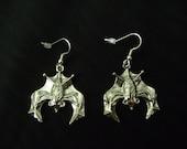 Large Bat Earrings