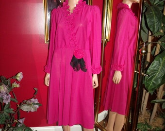 Vintage 70sLady Carol Flapper Dress  does  Teacher Office Lady   Size None Petite
