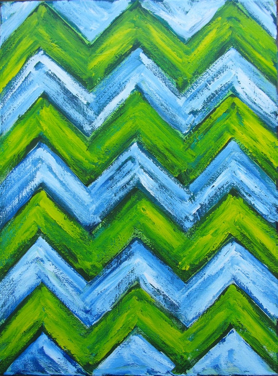 Chevron Abstract Acrylic Painting