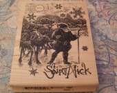Saint Nick wood mounted Rubber Stamp