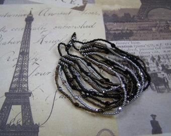 Summer Soltice Handmade Beaded Multi Strand OOAK Bracelet